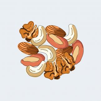 Сухофрукты, орехи, ореховая мука